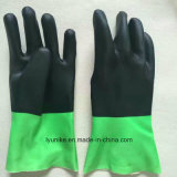 Double Colors PVC Non-Slip Hand Protection Water Proof Gloves