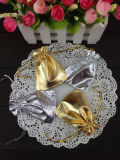 Golden Silver Metallic Jewelry Pouch