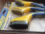 Brass/Stainless Steel/PP Wire Plastic Handle Brush (YY-510)