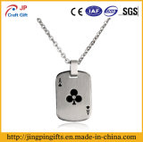 China Supplier Metal Name Dog Tag with Print Clubs Ace