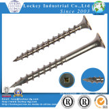 Square Drive Self-Tapping Cutting Screw Type 17 Point Deck Screw