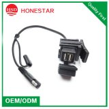 Newest Model 3.1A Motorcycle Waterproof Dual USB Charging Wire 12V-24V Dual USB Charger