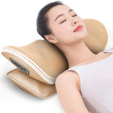 Jare Neck Electric Shiatsu Back U Shaped Vibrating Home with Heat Relax Travel Sleep Lumbar 3D Waist Comfy Massage Pillow