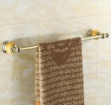 Luxury Marble Bathroom Hardware Golden Finish Towel Rack 11824h