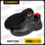 S1p Men Safety Shoes Basic Footwear Smooth Leather PU Sole Work Shoes Wearproof High Quality Always Stock up Competitive Price Low Cut Business Office (SN5733)