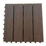 WPC Co-Extrusion Terrace Garden Floor Tiles Wooden DIY Floor Tile Outdoor PE Flooring 300*300*22mm