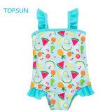 Cute Lovely Blue Kids Girl Baby Fruit Printed One-Piece Dress Infants Swimwear Dance Clothing