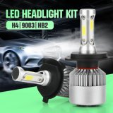Wholesale Car Light Cheap 9003 Hb2 H4 S2 LED Headlight Bulb Three Sides 72W 8000lm