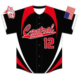Youth Sublimation Baseball Tops Jeresy for Teams