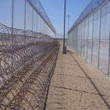 The Concertina Razor Barbed Wire Fence with Frame