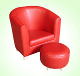 Round Back Leather Tub Chair Children Furniture (SF-64)