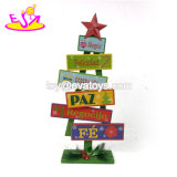 Wholesale Customize Tree Shape Wooden Holiday Decorations for Sale W09d042
