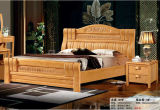High Quality Bedroom Furniture, Wooden Bed, Hotel Bed (201)