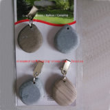Set of Four Clip on Grey Pebble Table Cloth Weights Outdoor Garden Accessory/Stone Table Cloth Weights