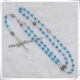 Mini Bule Glass Bead Rosary / Rosary Beads (IO-cr219)
