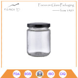 Straight Side Glass Jar with Metal Lid for Food Packing