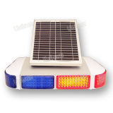 12V Solar-Power Blue Red LED Traffic Flash Signal Warning Light