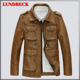 Fashion PU Jacket for Men Winter Coat