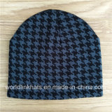 Fashion New Style Plover Pattern Knitted Jacquard Weave Beanie Hat