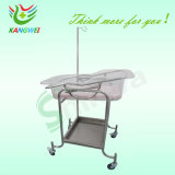 Hospital Adjustable Stainless Steel Baby Trolley Bassinet Slv-B4203s