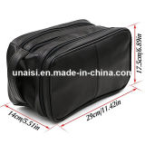 Large Capacity Fake Leather Toiletry Makeup Case Bag Cosmetic Organizer