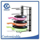 Kitchen Cabinet Metal Wire 5-Layer Pan Organizer Rack