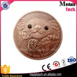 Factory Derect Custom 3D Enagrave Antique Copper Crystal Souvenir Coin