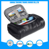 2017 New Fashion PU Waterproof Men Wash Bag for Outdoor Travel
