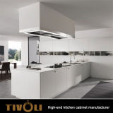 High Rise Apartametns Fancy Design White Kitchen Cabinets with Island for Australia Builders