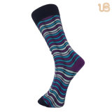 Men′s Solid Color Dress Cotton Comb Sock