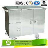 Professional Service Comfortable Stainless Steel Insulated Food Cart Electric Heated (Heat Store Type)