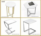 Solid Surface Marble Small Sofa End Side Table