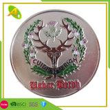 High Quality Customized Sandblasting Us&Bahrain Logo Metal Enamel Challenge Gift Coin (129)