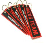 Wholesale Price Custom Design Embroidery Keychain for Gifts