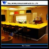 Translucent Stone LED Bar Counter Solid Surface Tables for Club