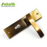 Shine Coffee Middle Size Door Handles with Plate