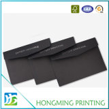 Custom Wholesale Logo Embossed Black Cardboard Envelope