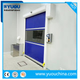 Industrial Automatic PVC Fabric Plastic Rapid Fast Acting High Speed Quick Rolling Shutter Roll up Roller Shutter Clean Room Security Door for Mask Factory