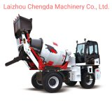 1.5 Cbm Self Loading Mobile Concrete Mixer with Electric Starter Motor