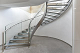 Outdoor/Indoor Modern Design Stainless Steel Curved Staircase/Residential Steel Stairs/Curved Glass Staircase/Helical Staircase