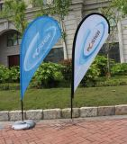 Promotional Usage Advertising Exhibition Event Outdoor Feather Flag Flying Beach Flag Banner Stand, Teardrop Flag
