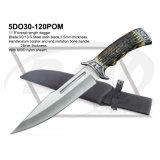 "12"" Overall Outdoor Hunting Knife, POM Material Fake Bone Handle: 5do30-120POM"