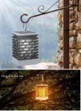 Global Sunrise Outdoor Solar Powered Flame Effect LED Lantern Light Solar Lamp