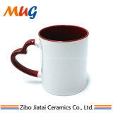 Wholesale Good Grade Inner Red Outer White Sublimation Ceramic Coffee Mug