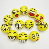 6.3cm Emoji Smiley PU Stress Ball Ball Novelty Squeeze Ball Hand Stress Ball Wrist Exercise Squeeze Toys Stress Ball