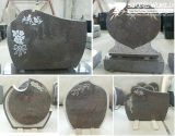 Granite Stone Monument / Tombstone with Custom Design - Tt12