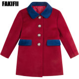 Manufacturing Top Quality Children Clothes Baby Clothing Girl Red Wool Coat Fashion Winter Apparel