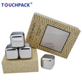 Set of 8 Gift Box Packed Stainless Steel Ice Cube
