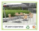 Extension Dining Tables Teak Outdoor Furniture with Stainless Steel Frame