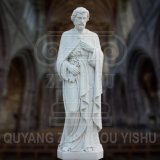White Marble Sculpture St Peter Statue for Church and Garden Decoration